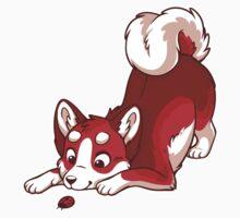 Rainbow Husky - Red Kids Tee