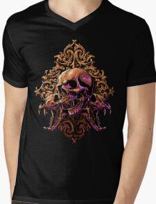 Skull Art Mens V-Neck T-Shirt