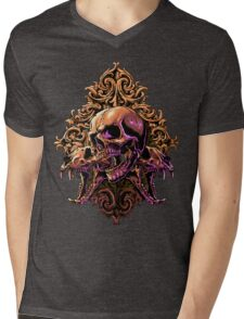 Skull Art Mens V-Neck T-Shirt