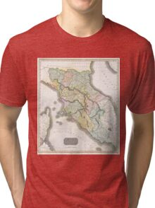 Vintage Map of Tuscany Italy (1814) Tri-blend T-Shirt