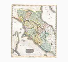 Vintage Map of Tuscany Italy (1814) Unisex T-Shirt
