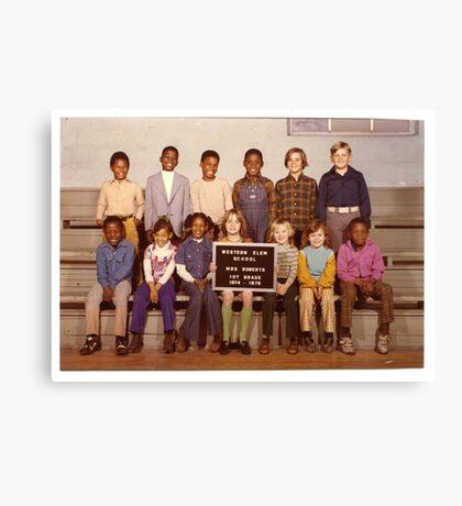 1974-1975, WESTERN ELEM. SCHOOL, 1ST. GRADE, HICKMAN, KY Canvas Print