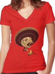 Monterrey Fire Women's Fitted V-Neck T-Shirt