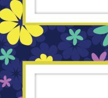Flower Letter E Sticker