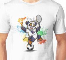 Sportlicher Panda Bär Unisex T-Shirt