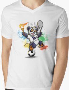 Sportlicher Panda Bär für Rio Mens V-Neck T-Shirt
