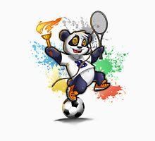 Sportlicher Panda Bär für Rio Unisex T-Shirt
