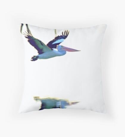 Pelican on the Move Throw Pillow