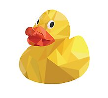 Low Poly Rubber Duck. Photographic Print