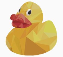 Low Poly Rubber Duck. Kids Tee