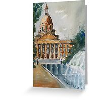 Fountain Side Greeting Card