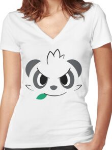 Pokemon - Pancham / Yancham Women's Fitted V-Neck T-Shirt