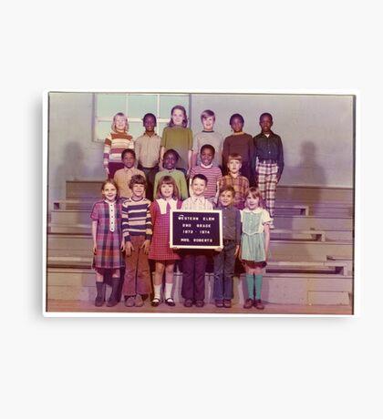 1973-1974, WESTERN ELEM. SCHOOL, 2ND. GRADE, HICKMAN, KY Canvas Print