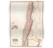 Vintage Map of Chile (1818) Poster