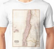 Vintage Map of Chile (1818) Unisex T-Shirt
