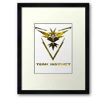 The Yellow Team Framed Print