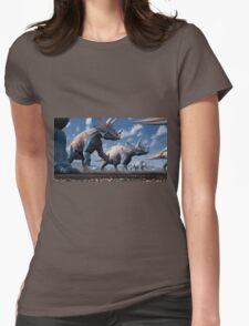 Triceratops Herd Womens Fitted T-Shirt