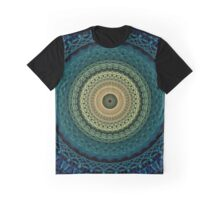 Mandala in yellow, green and blue tones Graphic T-Shirt