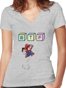 Wtf Mario Women's Fitted V-Neck T-Shirt