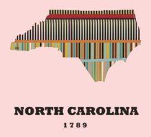 north carolina state map Kids Clothes