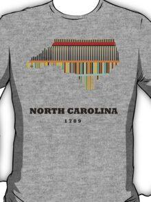 north carolina state map T-Shirt