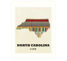 north carolina state map Art Print