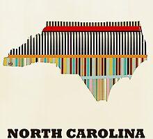 north carolina state map by bri-b