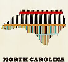 north carolina state map by bri-b