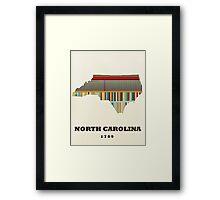 north carolina state map Framed Print