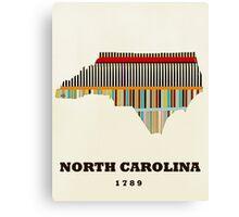 north carolina state map Canvas Print