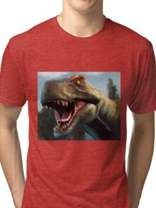 Tyrannosaurus Head Study Version II Tri-blend T-Shirt