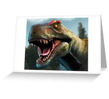 Tyrannosaurus Head Study Version II Greeting Card