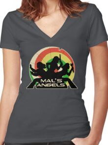 Mal's Angels Women's Fitted V-Neck T-Shirt