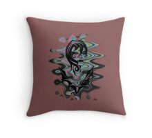 Sanity in Disguise (wave) Throw Pillow