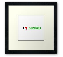 I heart Zombies Framed Print