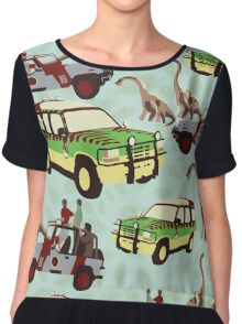 Jurassic Ride Chiffon Top