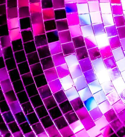 Purple Disco Ball Sticker