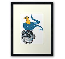 Robot Bird Framed Print