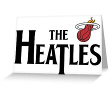The Heatles in Black Greeting Card