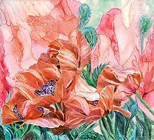 Orange Poppies Of Summer by Carol  Cavalaris