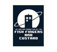 Fish Fingers and Custard Art Print