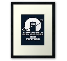 Fish Fingers and Custard Framed Print