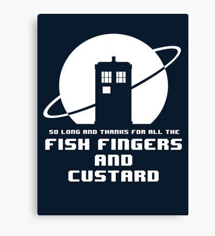 Fish Fingers and Custard Canvas Print