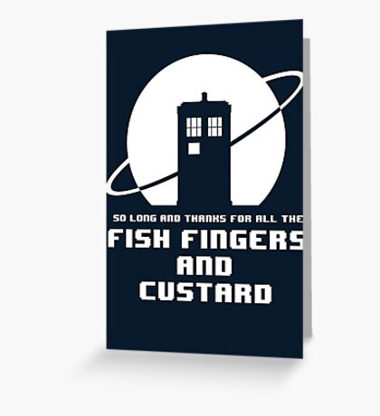 Fish Fingers and Custard Greeting Card