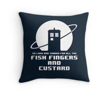 Fish Fingers and Custard Throw Pillow