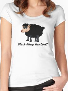 Chinese New Year Black Sheep Are Cool Women's Fitted Scoop T-Shirt