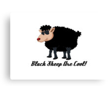 Chinese New Year Black Sheep Are Cool Canvas Print