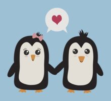 Penguins in love Kids Tee