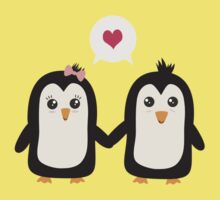 Penguins in love One Piece - Short Sleeve