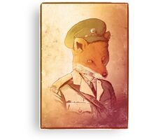 Red Army Fox Canvas Print